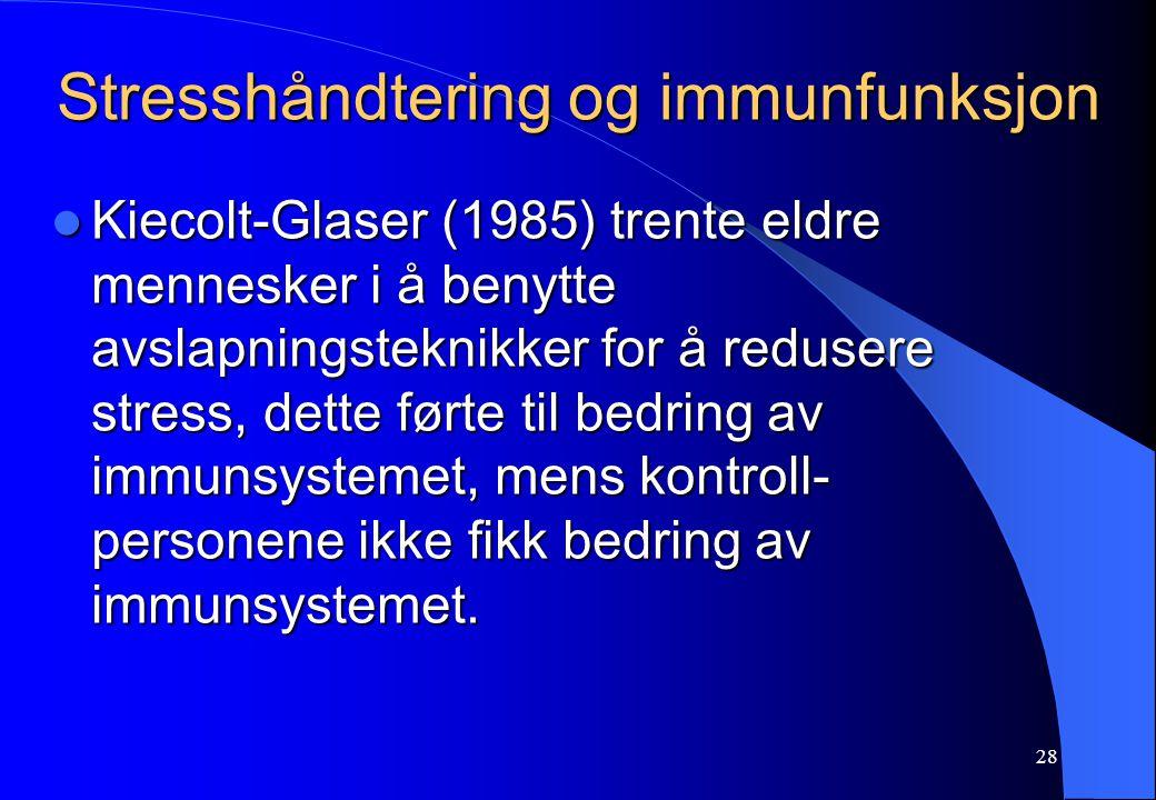 Stresshåndtering og immunfunksjon