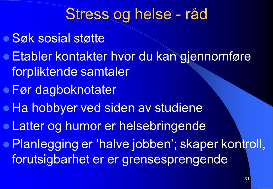 Stress og helse - råd Søk sosial støtte