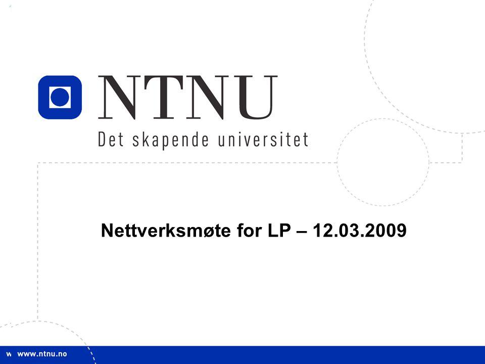 Nettverksmøte for LP – 12.03.2009