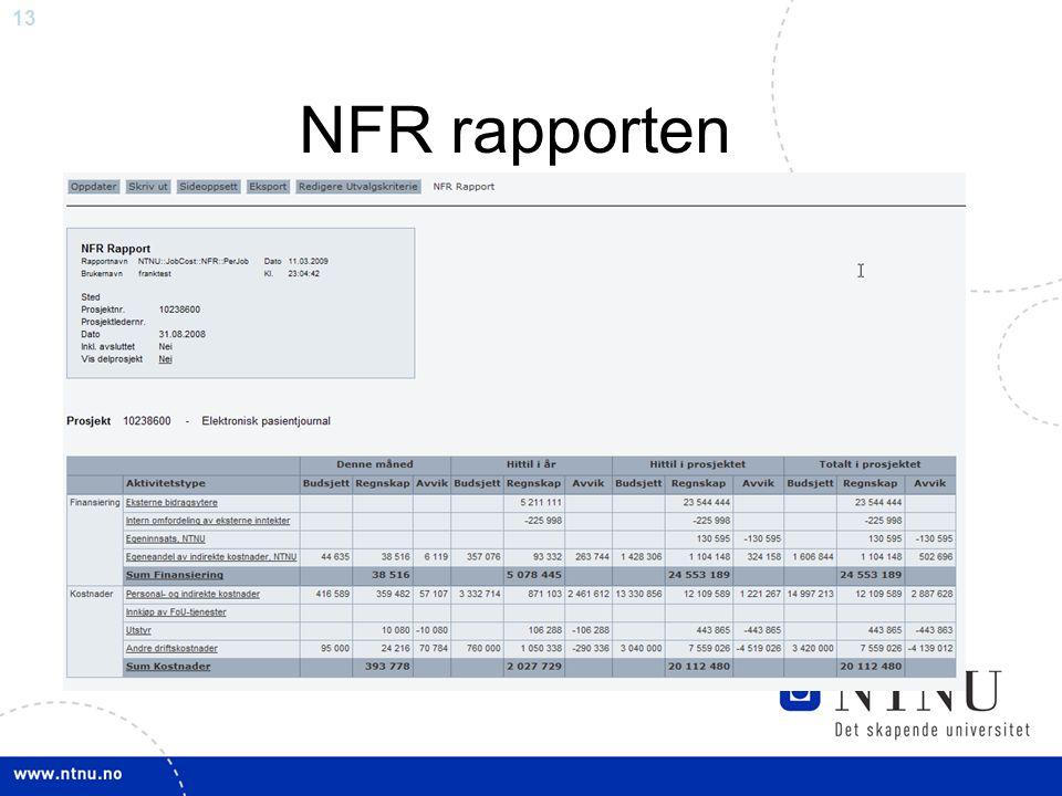 NFR rapporten