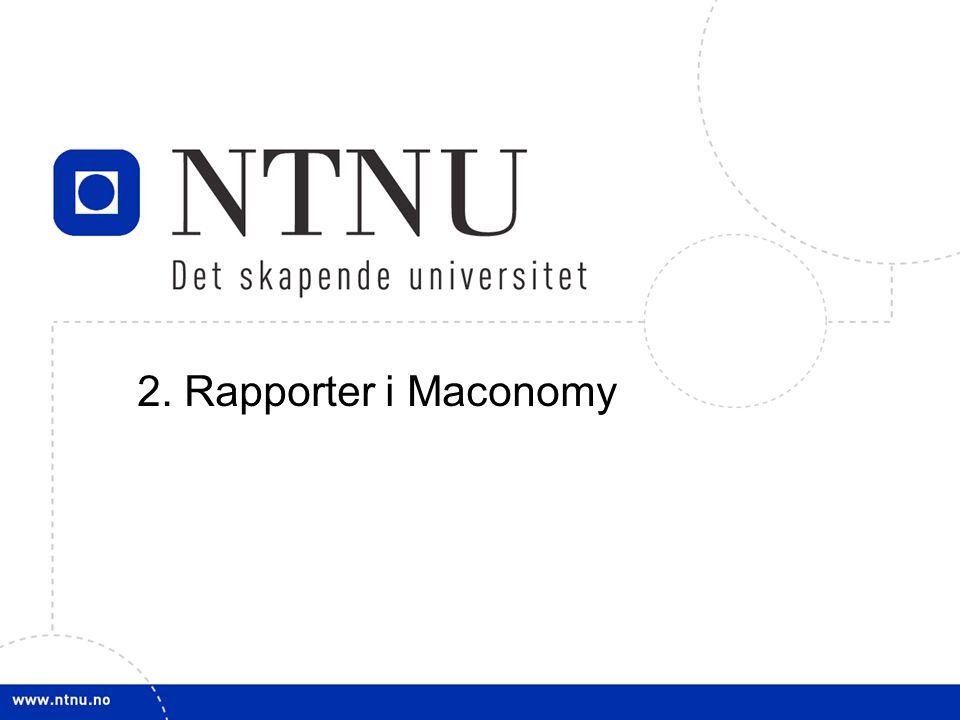 2. Rapporter i Maconomy