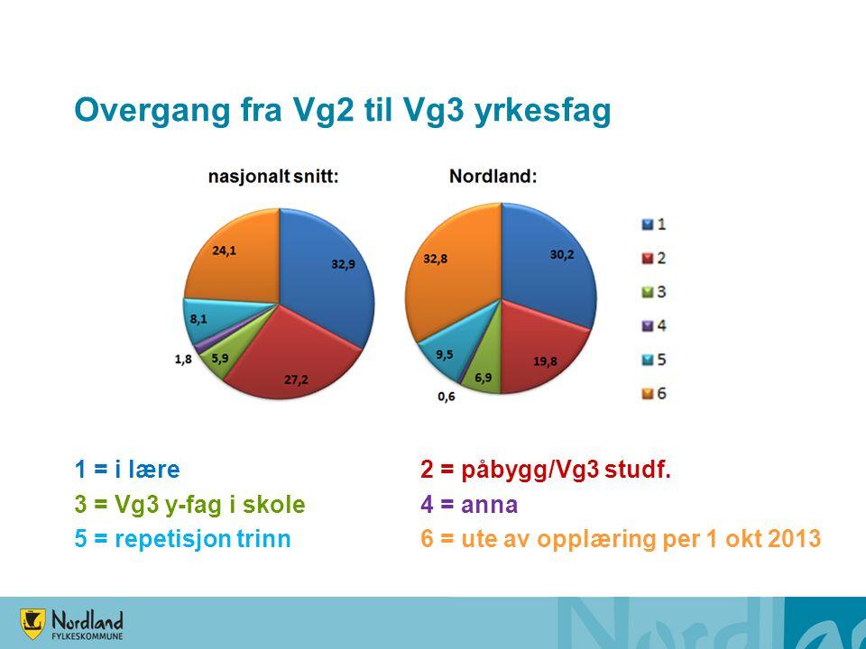 Overgang fra Vg2 til Vg3 yrkesfag