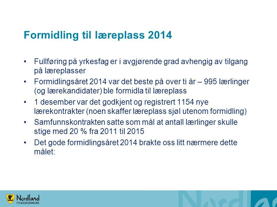 Formidling til læreplass 2014