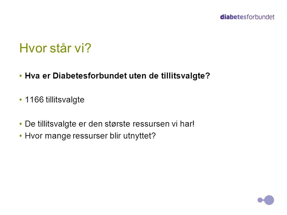 Hvor står vi Hva er Diabetesforbundet uten de tillitsvalgte