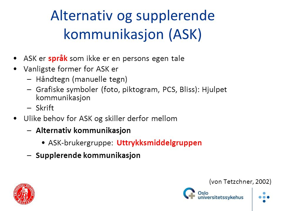 Alternativ og supplerende kommunikasjon (ASK)