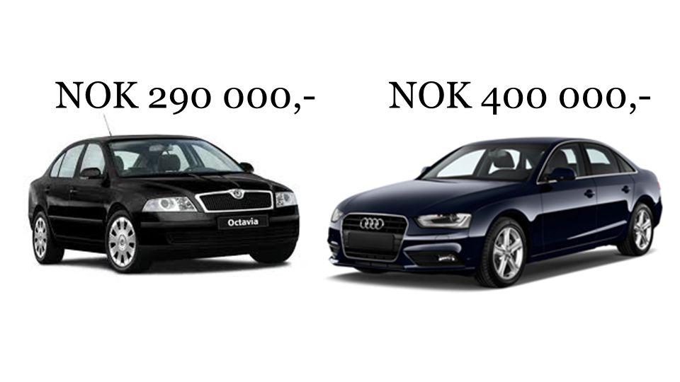 NOK 290 000,- NOK 400 000,-