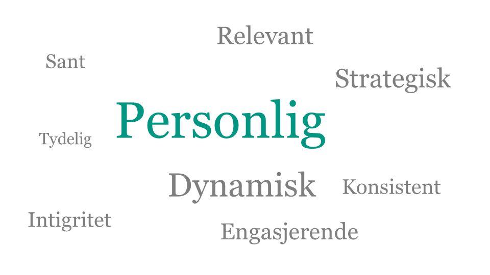 Personlig Dynamisk Strategisk Relevant Engasjerende Konsistent