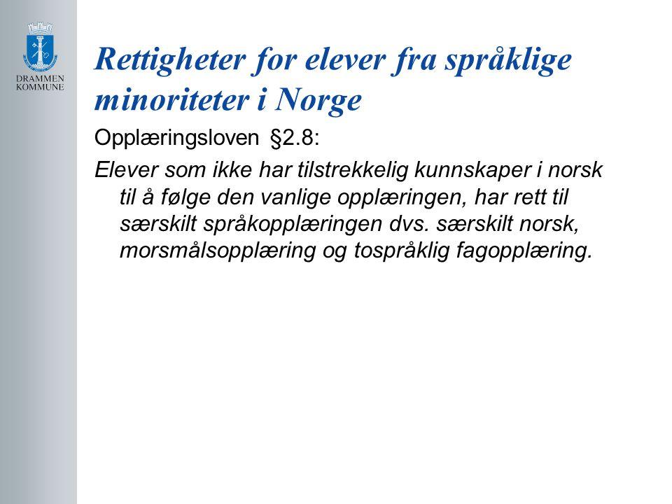 Rettigheter for elever fra språklige minoriteter i Norge