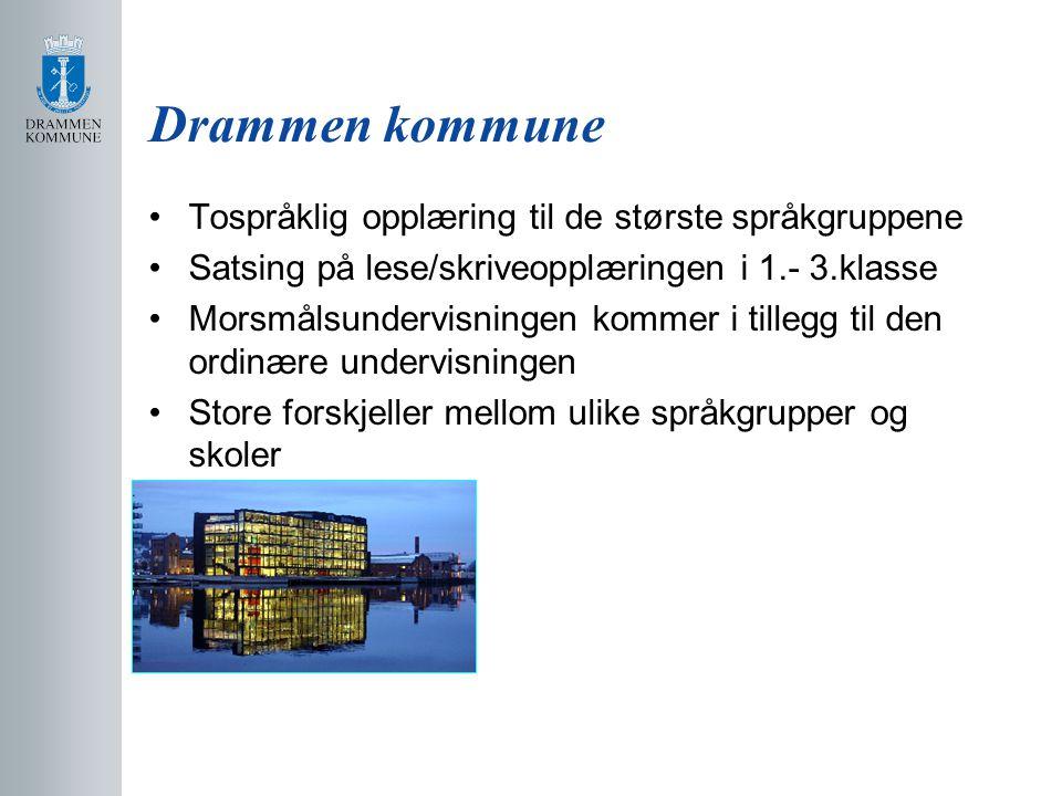 Drammen kommune Tospråklig opplæring til de største språkgruppene