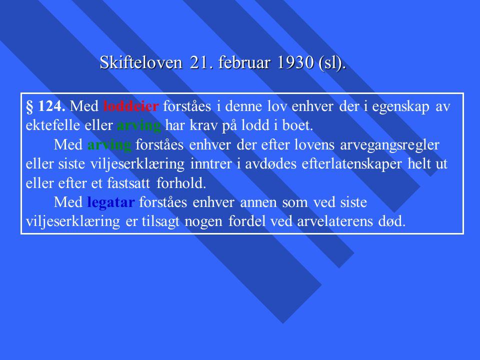 Skifteloven 21. februar 1930 (sl).