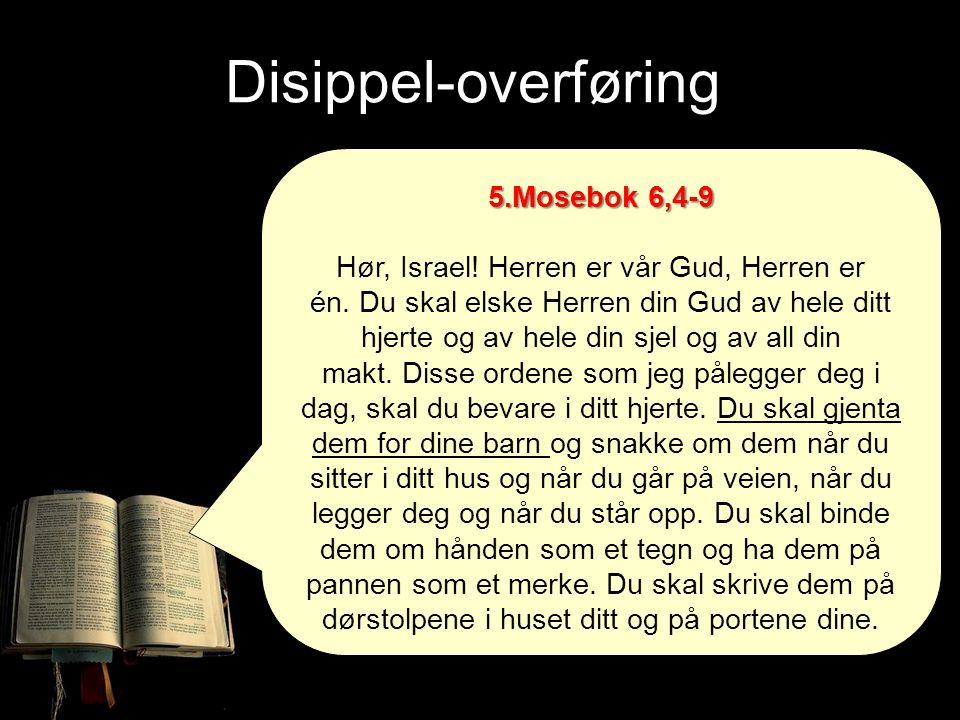 Disippel-overføring 5.Mosebok 6,4-9