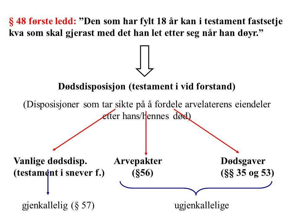 Dødsdisposisjon (testament i vid forstand)