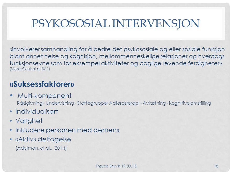 Psykososial intervensjon