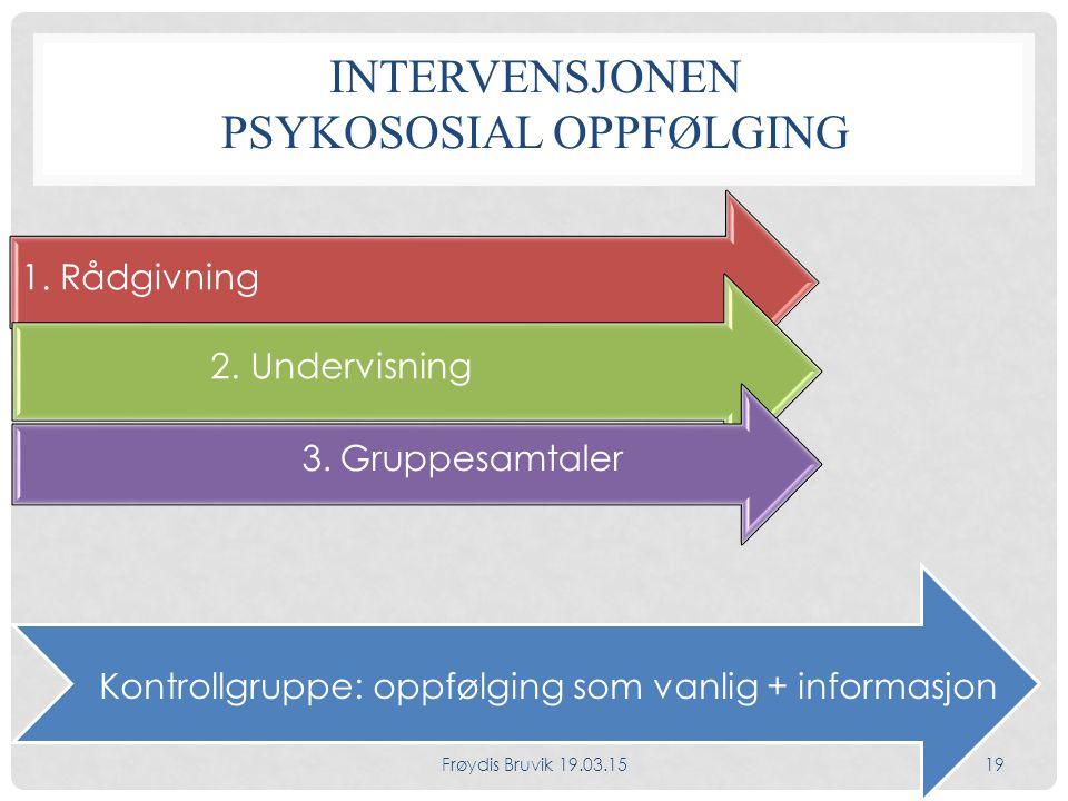Intervensjonen Psykososial oppfølging