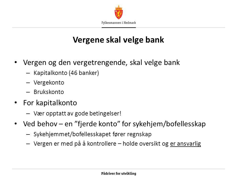 Vergene skal velge bank