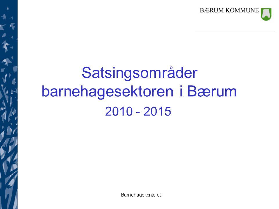 Satsingsområder barnehagesektoren i Bærum