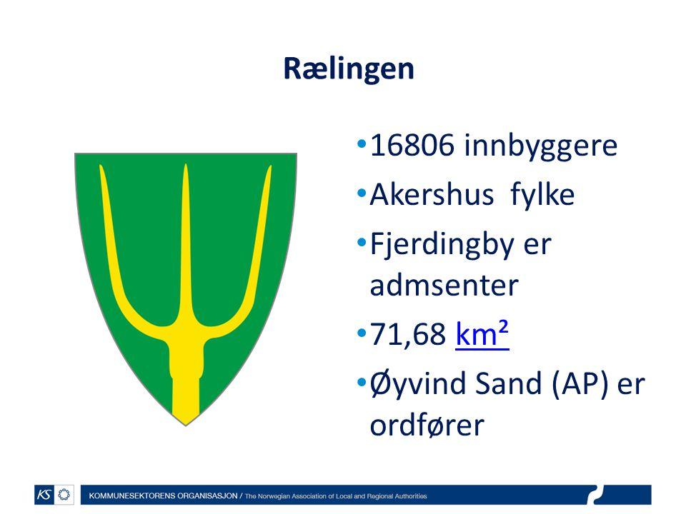 Rælingen 16806 innbyggere. Akershus fylke. Fjerdingby er admsenter.