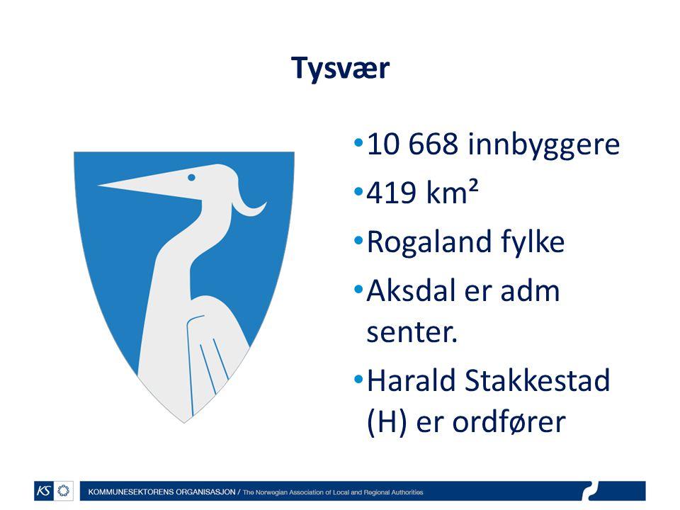 Tysvær 10 668 innbyggere. 419 km². Rogaland fylke.