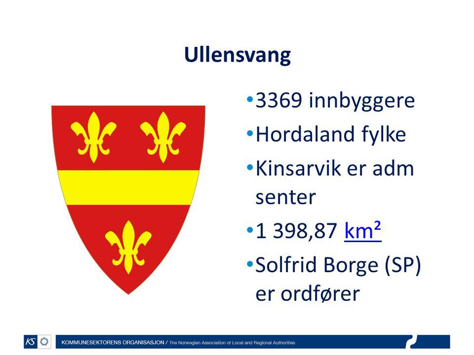 Ullensvang 3369 innbyggere. Hordaland fylke. Kinsarvik er adm senter.