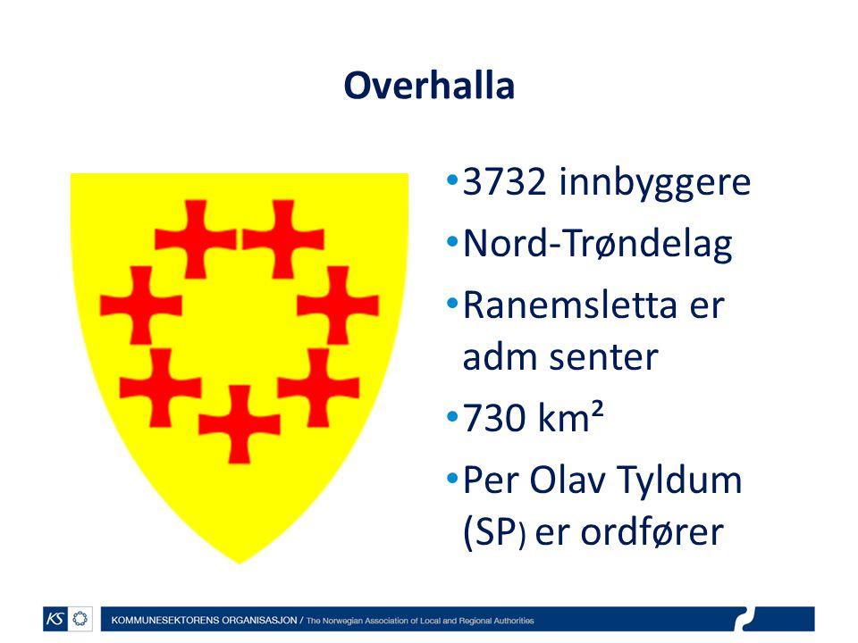 Overhalla 3732 innbyggere. Nord-Trøndelag. Ranemsletta er adm senter.