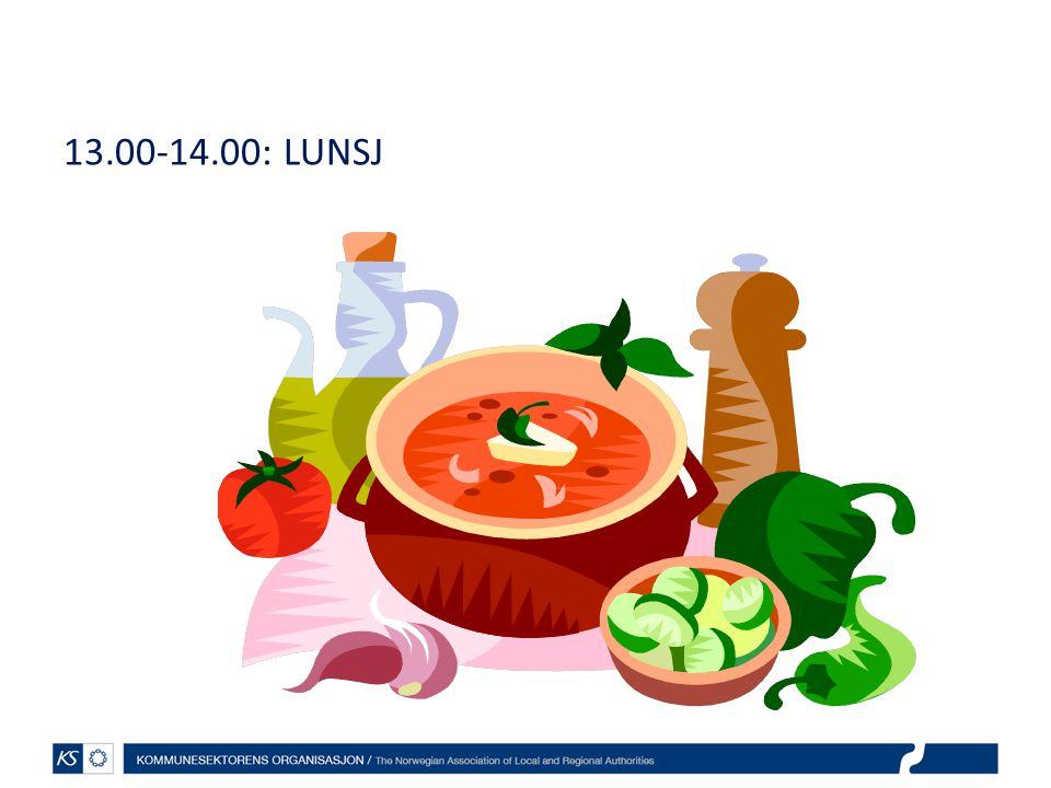 13.00-14.00: LUNSJ