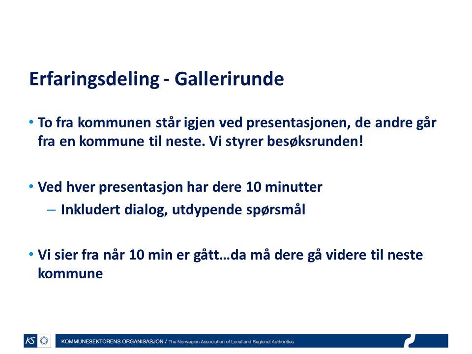 Erfaringsdeling - Gallerirunde