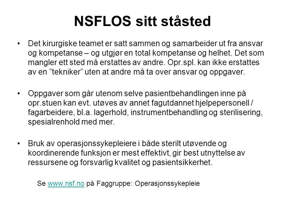 NSFLOS sitt ståsted