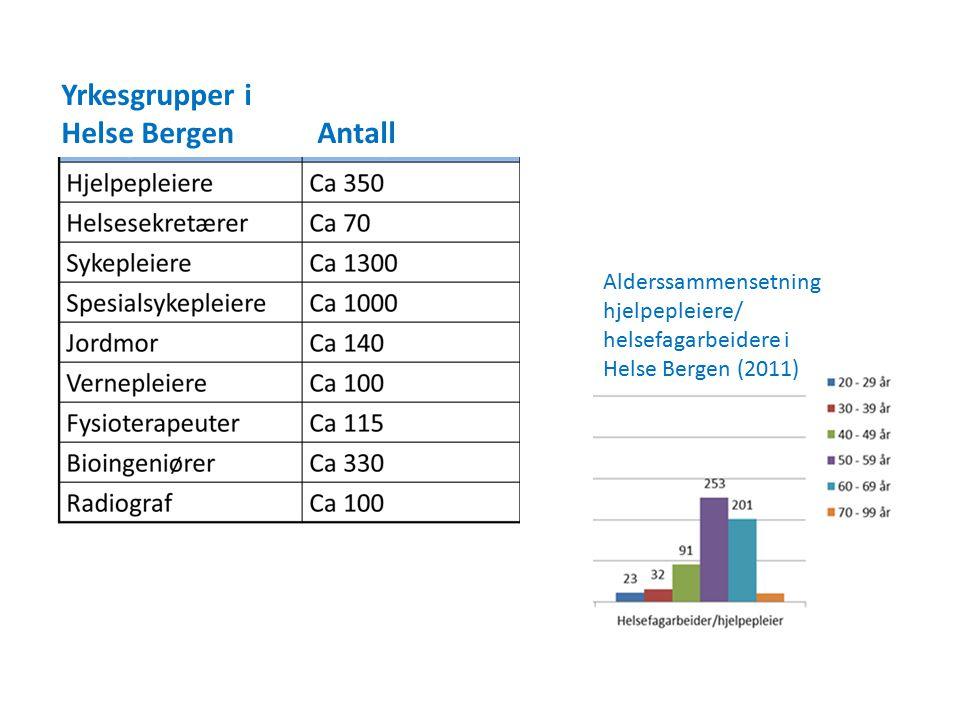 Yrkesgrupper i Helse Bergen Antall