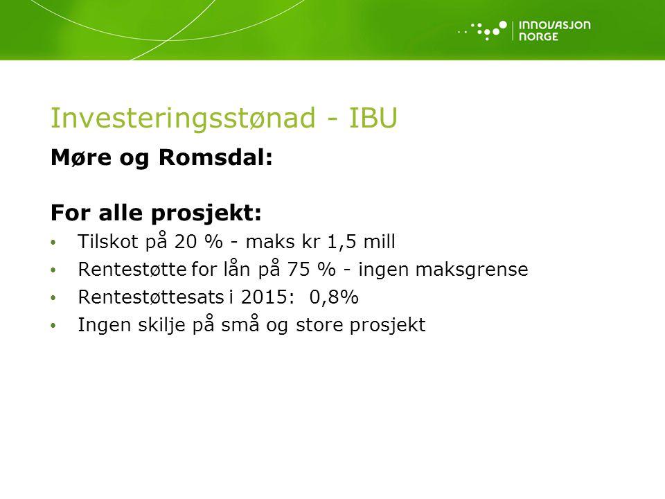 Investeringsstønad - IBU