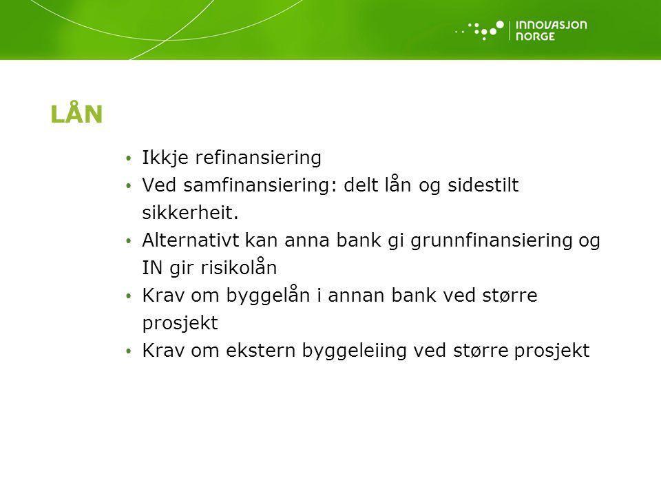 LÅN Ikkje refinansiering