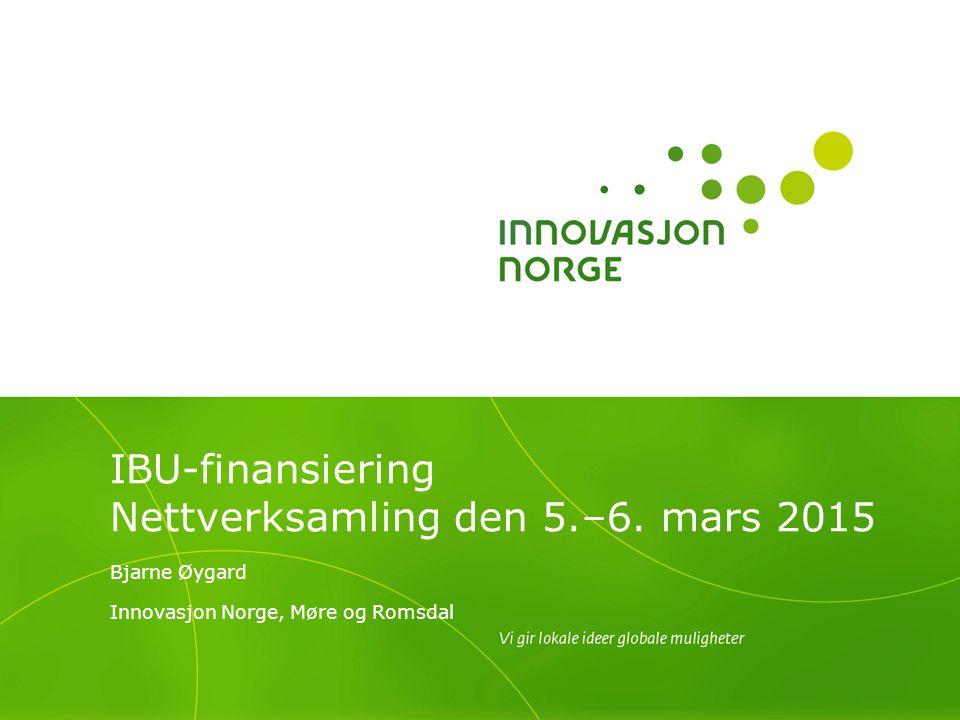 IBU-finansiering Nettverksamling den 5.–6. mars 2015