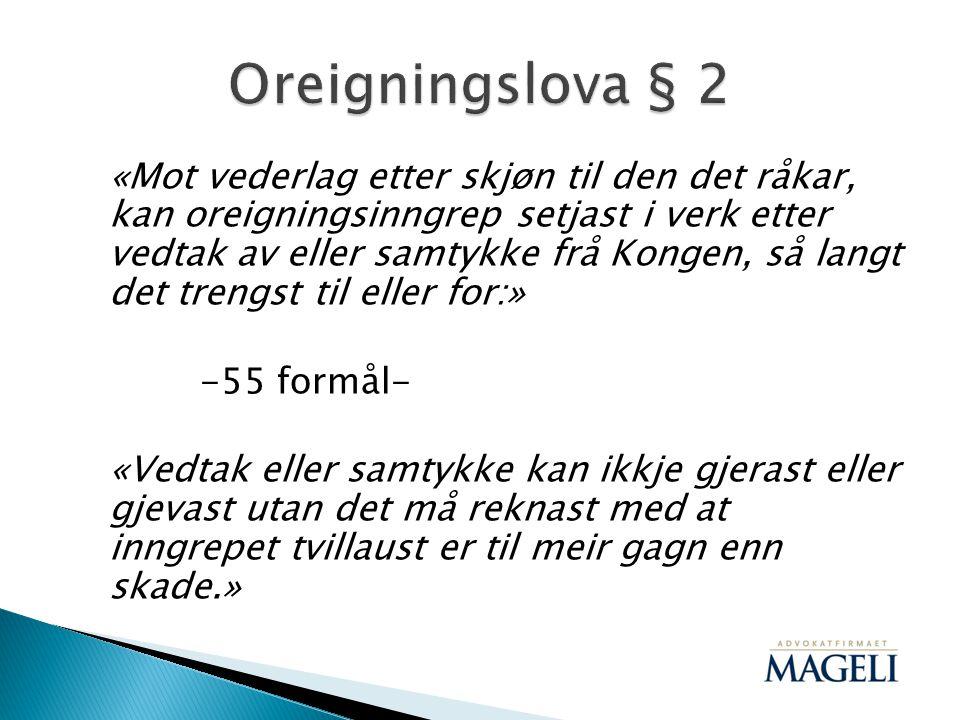 Oreigningslova § 2