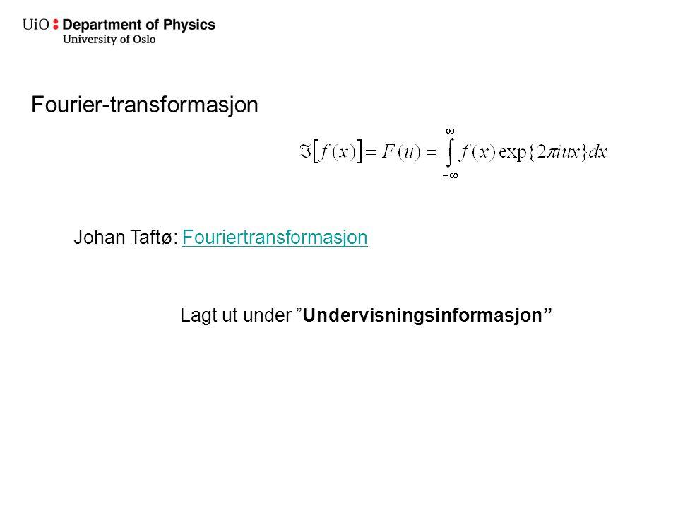 Fourier-transformasjon