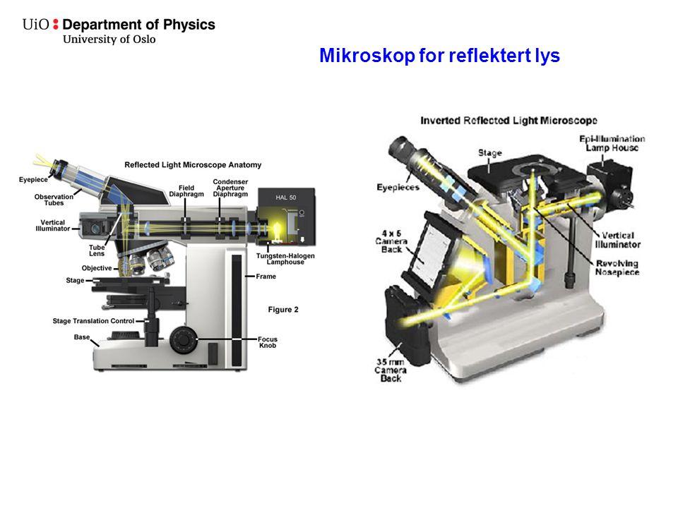 Mikroskop for reflektert lys