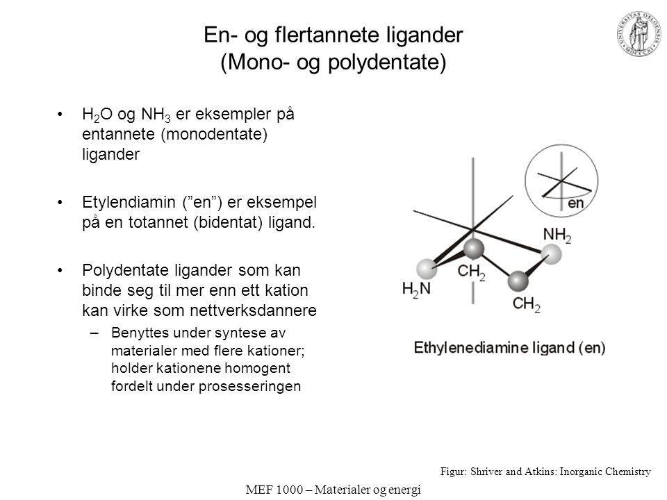 En- og flertannete ligander (Mono- og polydentate)