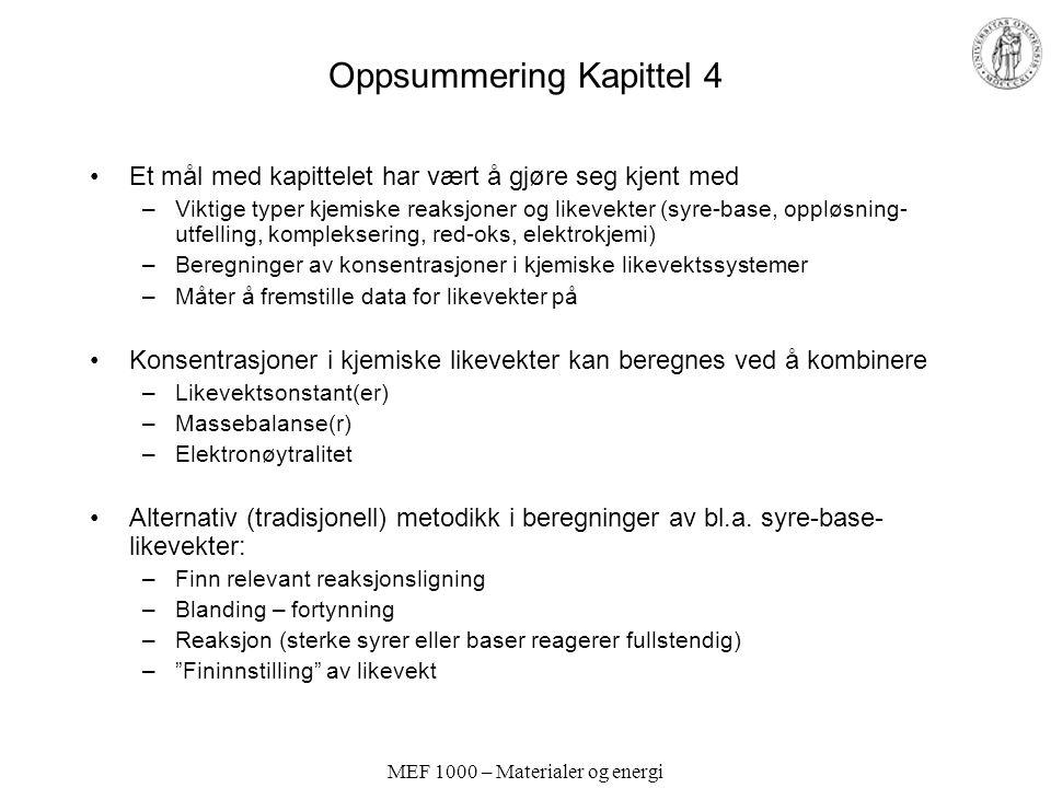 Oppsummering Kapittel 4
