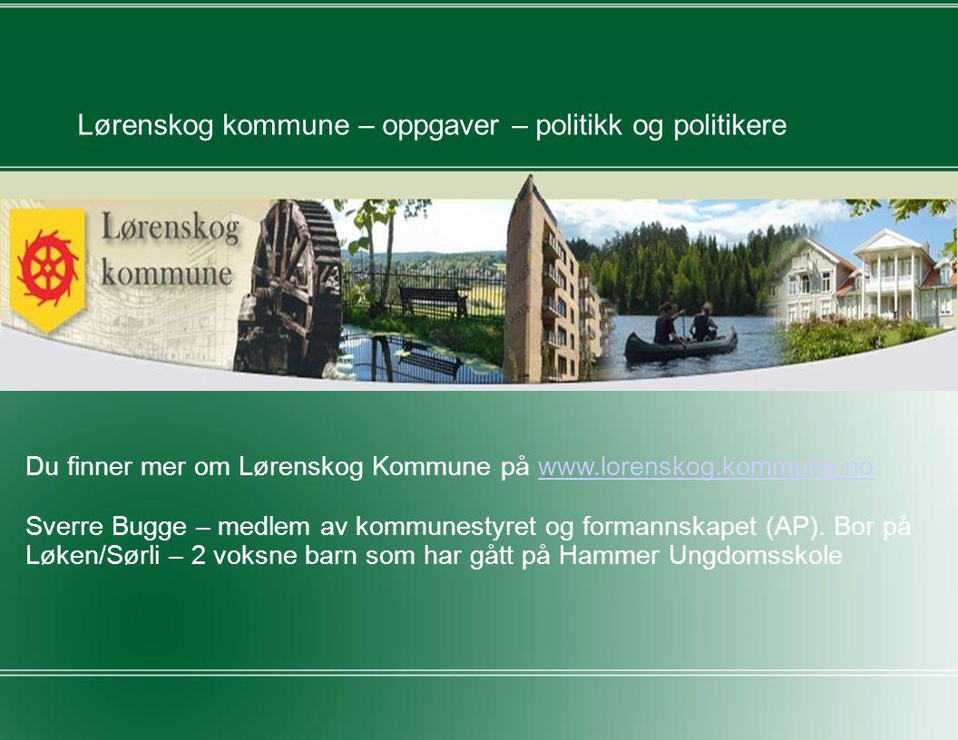 Lørenskog kommune – oppgaver – politikk og politikere