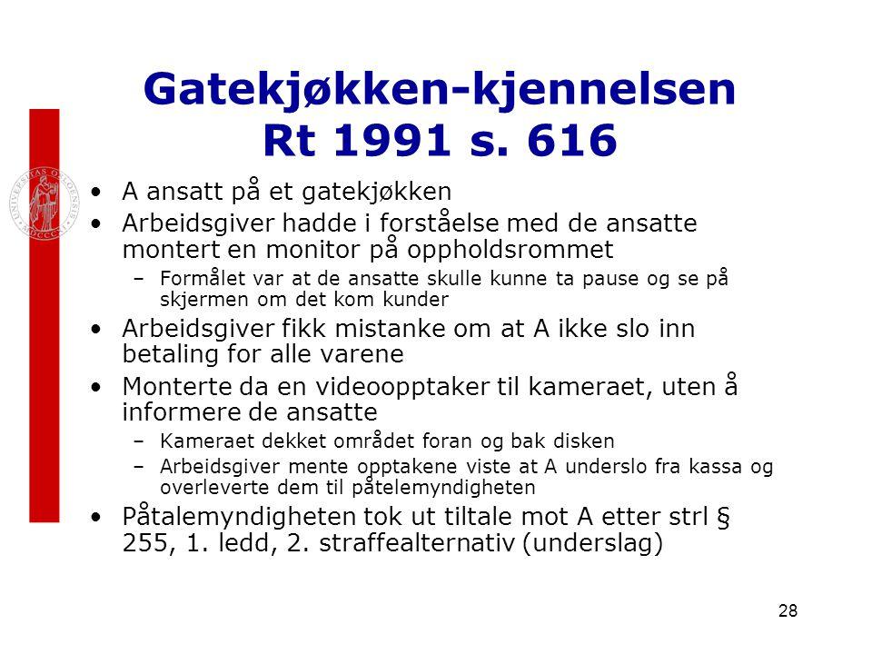 Gatekjøkken-kjennelsen Rt 1991 s. 616