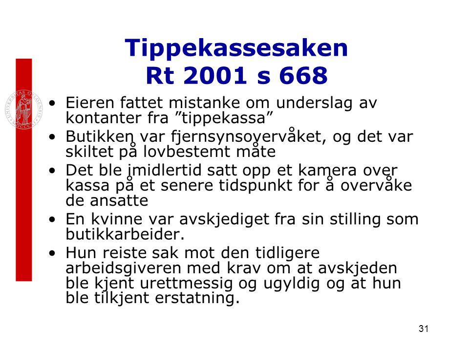 Tippekassesaken Rt 2001 s 668 Eieren fattet mistanke om underslag av kontanter fra tippekassa