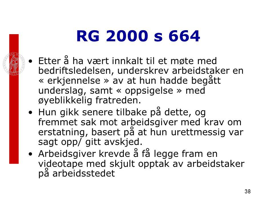 RG 2000 s 664