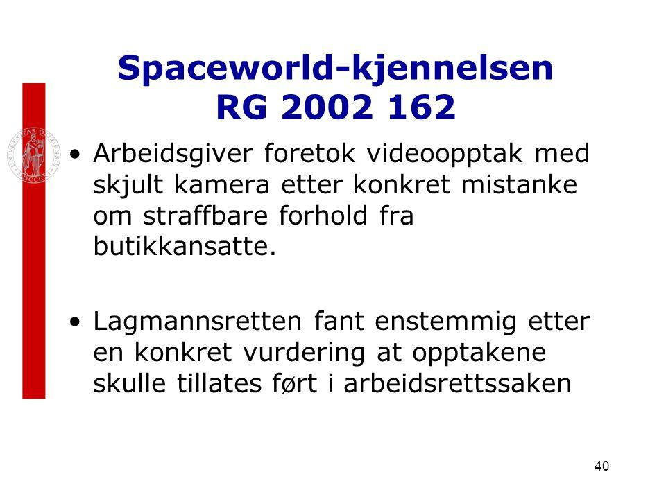 Spaceworld-kjennelsen RG 2002 162