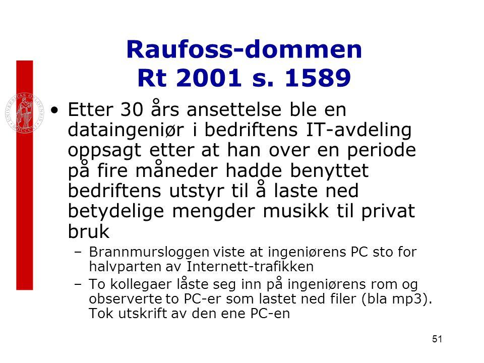 Raufoss-dommen Rt 2001 s. 1589