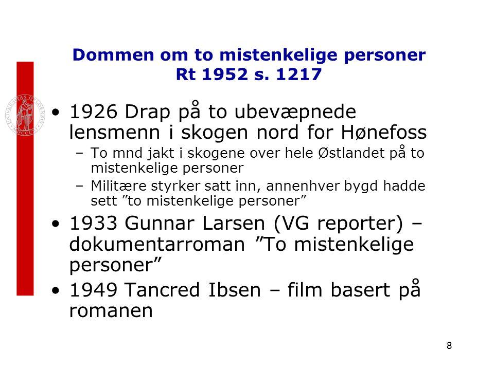 Dommen om to mistenkelige personer Rt 1952 s. 1217