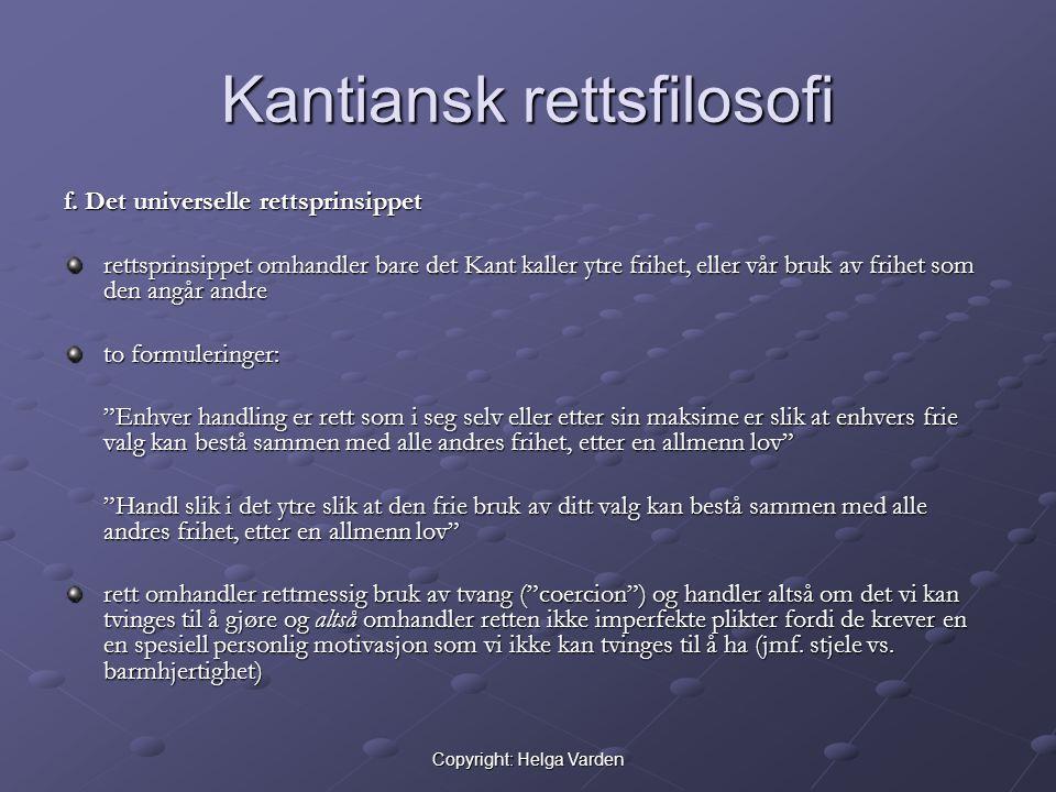 Kantiansk rettsfilosofi