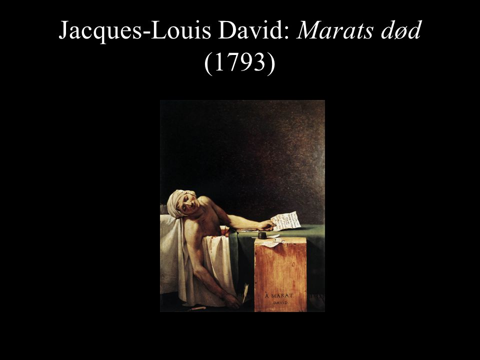 Jacques-Louis David: Marats død (1793)
