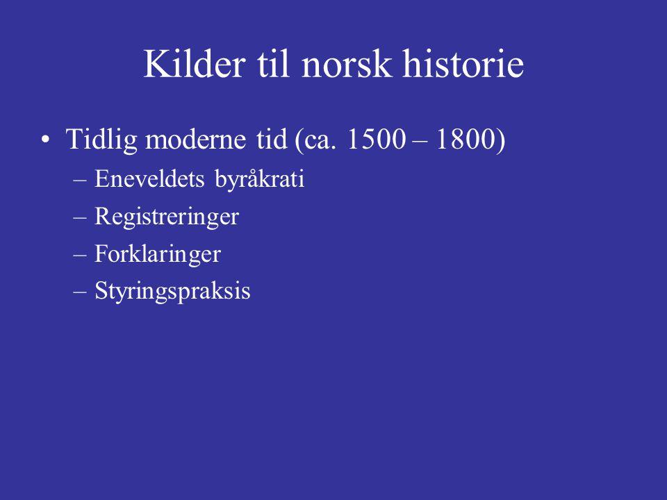 Kilder til norsk historie