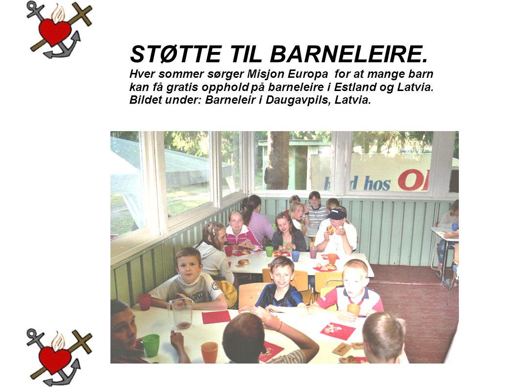 STØTTE TIL BARNELEIRE.