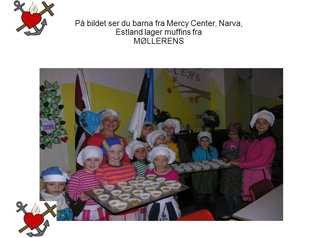 På bildet ser du barna fra Mercy Center, Narva,