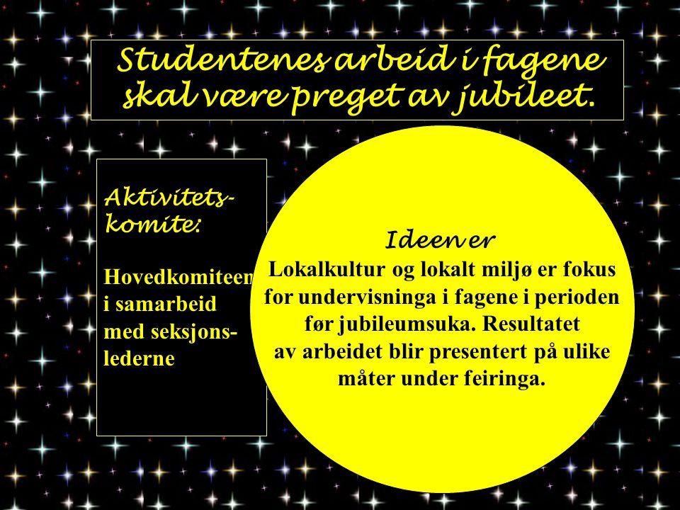 Studentenes arbeid i fagene skal være preget av jubileet.