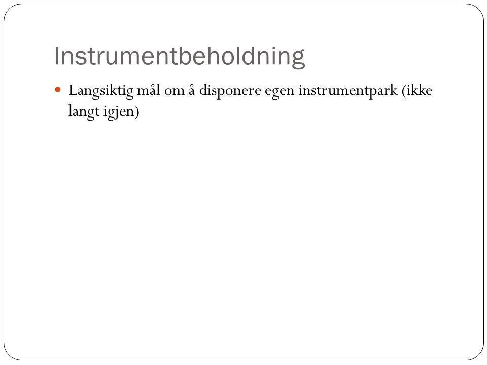 Instrumentbeholdning